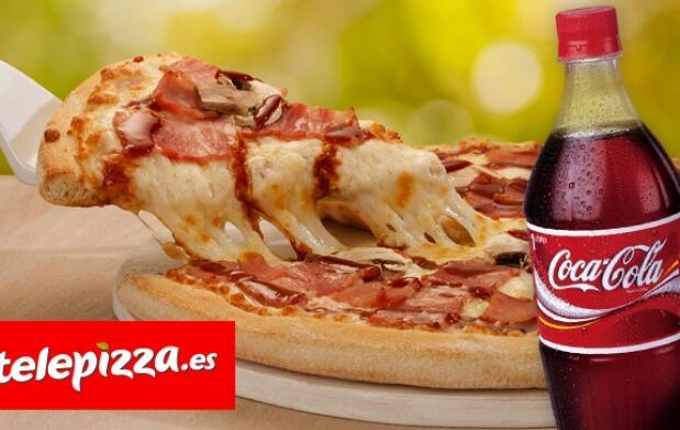 Telepizza: pizza familiar + refresco 1l.