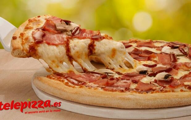 Telepizza: pizza mediana 3 ingredientes