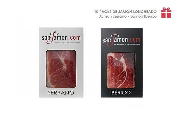 10 Packs de Jamón Loncheado