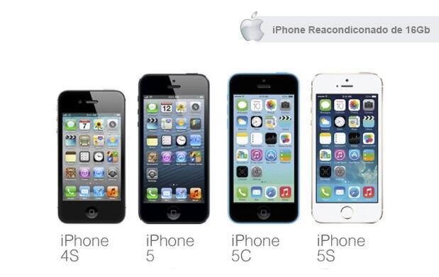 iPhone 16 Gb - Modelos 4S, 5, 5C o 5S