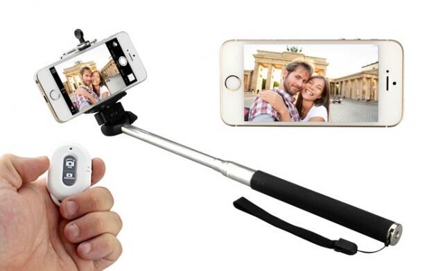 Palo selfie + mando bluetooth + trípode