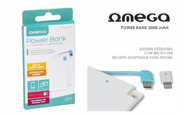 Batería Power Bank 2000mAh - Super Slim