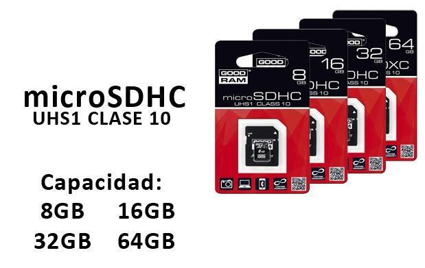 Tarjeta microSDHC Clase 10 + Adaptador