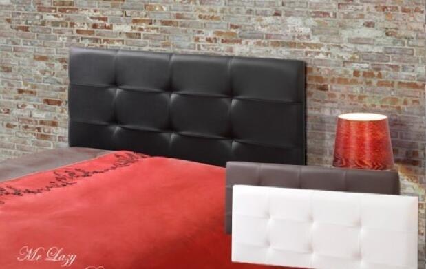 Cabecero para cama de matrimonio de piel disponible en varias medidas y colores