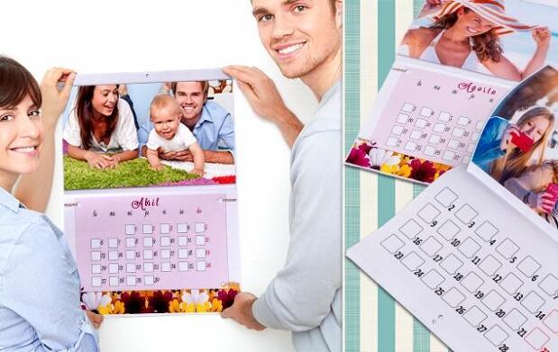 Calendario 2016 personalizado por 9.90€