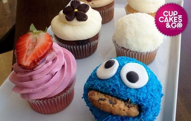 Deliciosa merienda para 2 con cupcakes