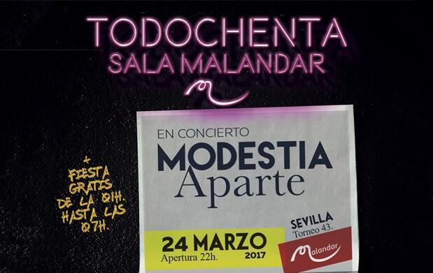 Modestia Aparte en concierto