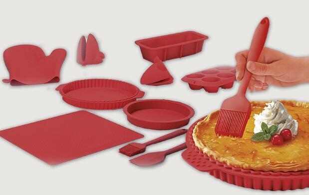 Colección de moldes de silicona para cocinar