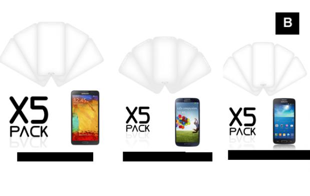 Pack 5 laminas protectoras Smartphone