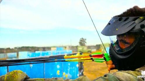 Paintball con arco. Archery Games