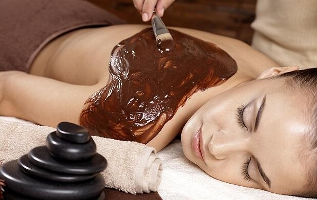 Peeling corporal + envoltura de chocolate