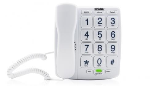 Teléfono con teclas grandes y altavoz