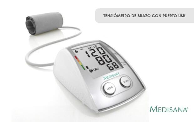Tensiómetro de brazo con puerto USB