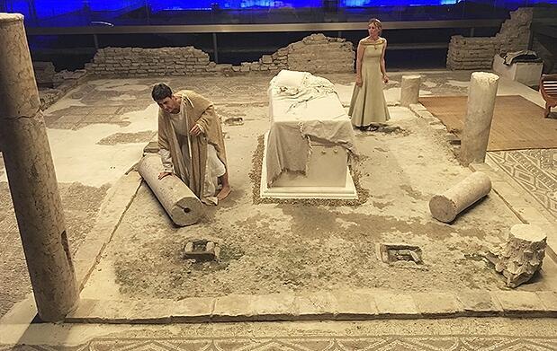 Teatro Trajano en el Antiquarium