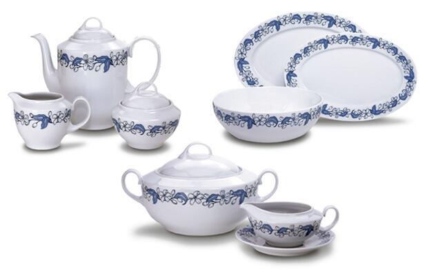 Vajilla de porcelana para 6 comensales