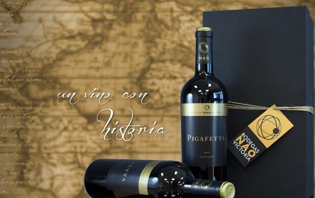 Exclusivo lote vino tinto Pigafetta